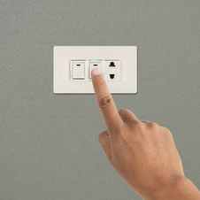 Free Turning Off Light Switch Stock Image - 30106241