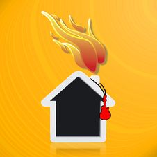 Free Music House With Fire Stock Photography - 30106622