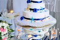 Free Wedding Cake With Bouquet And Stemware Stock Image - 30111751