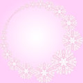 Free Pink Round Frame With Flowers Stock Photography - 30114852
