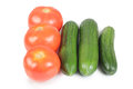 Free Cucumber And Tomatos Royalty Free Stock Image - 30115766
