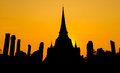 Free Pagoda At Wat Phra Sri Sanphet Temple Stock Photo - 30116680