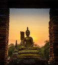 Free Buddha And Pagoda After Sunset, Wat Phra Sri Sanphet Temple Stock Photos - 30116713