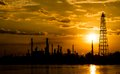 Free Silhouette Of Refinery Plant Stock Photography - 30116942