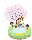 Free Cafe Of The Cherry Blossom-1 Stock Photos - 30118463