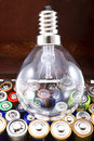 Free Lamp And Batteries Stock Image - 30119261