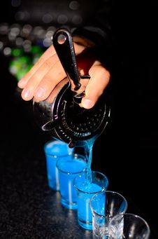 Free Bartender Pours Shoots Stock Photos - 30110513