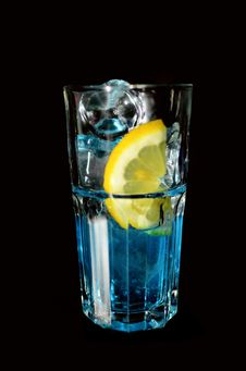 Free A Blue Drink In Tall Glass Royalty Free Stock Photography - 30110607