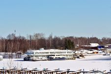 Yachts In Winter Royalty Free Stock Photography
