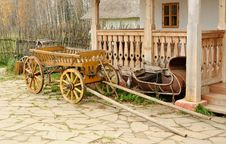 Cart And Aged Sledge Royalty Free Stock Photos