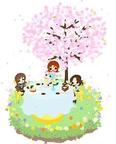 Free Cafe Of The Cherry Blossom-3 Stock Photos - 30118443