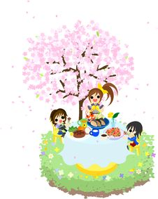 Free Cafe Of The Cherry Blossom-1 Stock Photos - 30118463