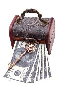 Free Money Under Lock And Key Royalty Free Stock Photos - 30119258