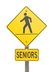 Free Sign Warning Of A Senior's Crossing. Stock Images - 30119984