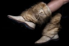 Free Warm Fur Shoes Royalty Free Stock Images - 30121209