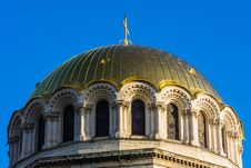 Free Gilded Dome Of St. Alexander Nevski Orthodox Cathedral Stock Photo - 30121600