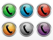 Free Contact Buttons Royalty Free Stock Photos - 30122618