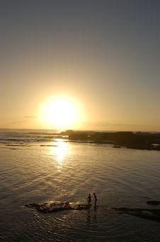 Free Sunset By Essaouira Stock Photo - 30123380