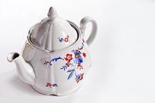 Free Vintage China Teapot On White Background Royalty Free Stock Images - 30127979
