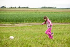 Free Girl With Ball Stock Photos - 30128543