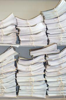 Documents Folder On A Shelf. Stock Photo
