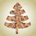 Free Grunge Mosaic Christmas Tree Greeting Card Royalty Free Stock Images - 30133099