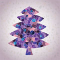 Free Grunge Mosaic Christmas Tree Greeting Card Royalty Free Stock Photos - 30133108