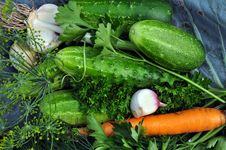 Free Background Of Fresh Vegetables. Royalty Free Stock Photography - 30130027