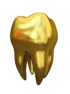 Free Golden Tooth Isolated On White Background Royalty Free Stock Images - 30130579