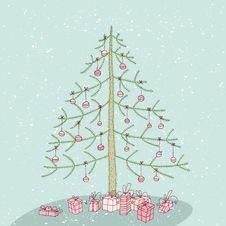 Free Grunge Christmas Tree No. 3 Royalty Free Stock Image - 30132476