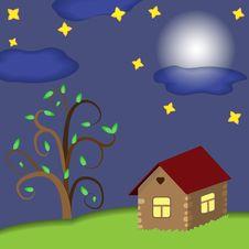 Free House At Night Royalty Free Stock Photos - 30133648