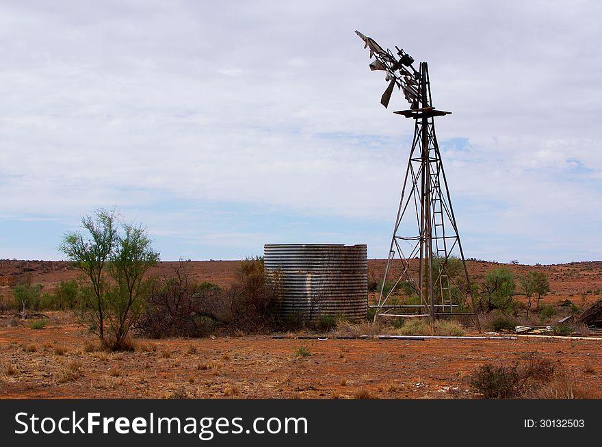 Broken Outback Windmill