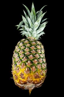 Free Pineapple Isolated On Black Stock Images - 30142944