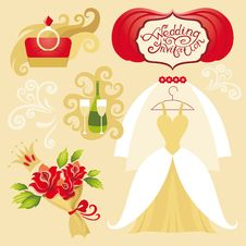 Free Vector Wedding Set Stock Image - 30143041