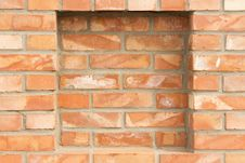 Free Brick Wall With Recess Stock Photos - 30144743