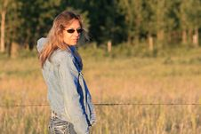 Country Woman Royalty Free Stock Images