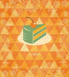 Free Cherry Cake Vintage Mosaic Pattern Royalty Free Stock Image - 30147126
