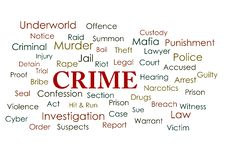 Free Crime Word Cloud Royalty Free Stock Photo - 30148415