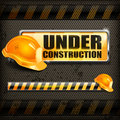Free Under Construction Sign & Helmet Stock Images - 30152414
