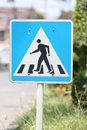 Free Walking Crossing Signs. Royalty Free Stock Photo - 30153645