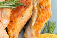 Free Grilled Salmon Stock Image - 30151311