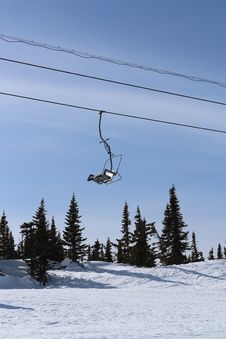 Chairlift In The Mountains Royalty Free Stock Photo