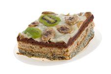 Free Cake With Kiwi And Banana Royalty Free Stock Photography - 30152997