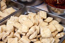 Fried Bean Curd Royalty Free Stock Photography