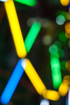 Free Ferris Wheel At Night With Colorful Bokeh Stock Photo - 30157940