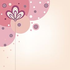 Free Pink Background With Stylized Flower Royalty Free Stock Photography - 30158737