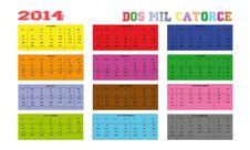 Free Calendar 2014 Stock Photo - 30159940