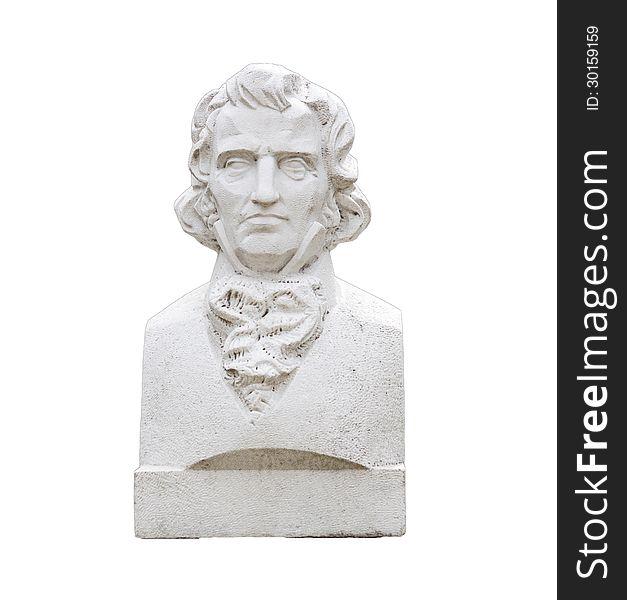 Bust of botanist and entomologist Christian Steven