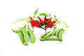 Free The Red Peppers To Be Spicy And String Bean. Royalty Free Stock Photo - 30167615