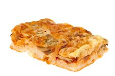 Free Pie With Cheese And Mushrooms Royalty Free Stock Photos - 30160118